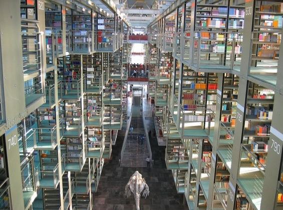 9. José Vasconcelos Kütüphanesi (Mexico City, Meksika)