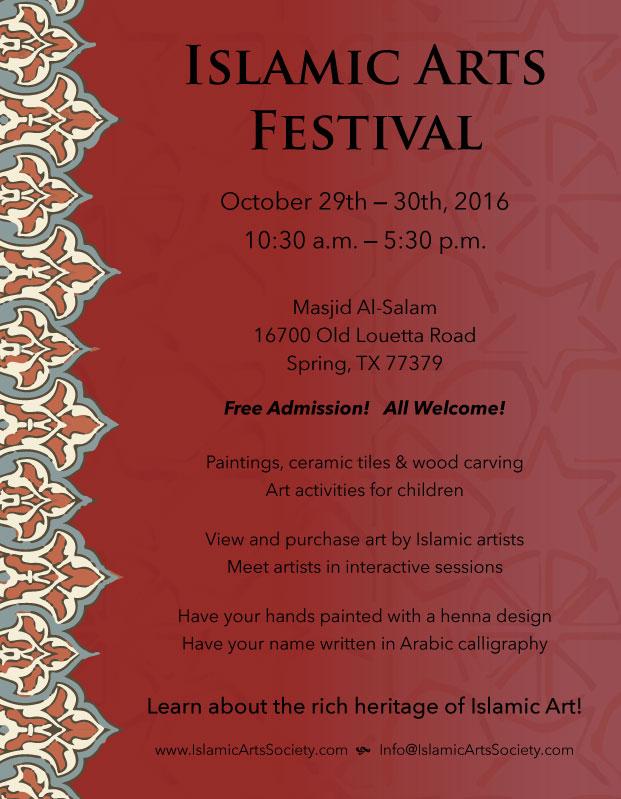 3. Geleneksel Houston İslami Sanatlar Festivali 29-30 Ekim'de!