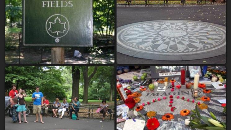 11.Strawberry Fields (Çilek Bahçesi)  Beatles grubunun eski üyelerinden John Lennon'ın anısını yaşatmak için parkın batı yakasında, kalan bu alana Lennon'ın Strawberry Fields Forever adlı şarkısından esinlenerek Strawberry Fields ismi verilmiştir. Alanın tam ortasında Imagine Mozağiyi bulunmaktadır. Lennon hayranları, sanatçıya olan sevgilerini göstermek için bu mozaiği çiçeklerle süsleyerek aynı noktada anma programları düzenlerler. Buraya vardığınızda ağaçlar ve çiçeklerin arasında görebileceğiniz çilekler de yine Strawberry Fields Forever şarkısından esinlenerek ekilmiştir.