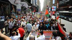 New York'ta İsrail'in Mescid-i Aksa'ya yönelik ihlalleri protesto edildi