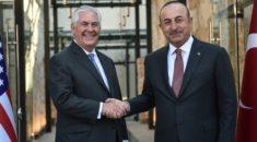 Çavuşoğlu ABD Dışişleri Bakanı Tillerson'la görüştü