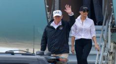 Trump, Harvey kasırgasının vurduğu Teksas'ı ziyaret etti