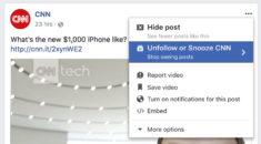 Facebook'ta takip ettiğiniz hesapları geçici olarak gizleyin