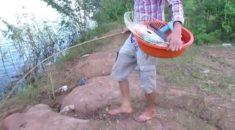 Sıra dışı balık avlama taktiği!