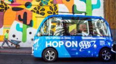 Las Vegas sürücüsüz minibüs projesini genişletiyor
