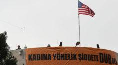 ABD Büyükelçiliği önünde gösteri! İsrail ve ABD aleyhine sloganlar...
