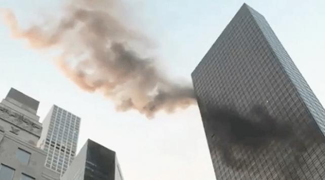 Trump Tower'da yangın çıktı