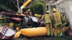 California'da tur helikopteri eve düştü