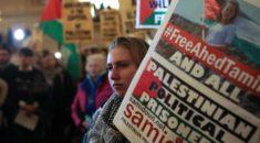 New York'ta yüzlerce kişi Filistin'in cesur kızı için toplandı