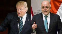 Trump ile İbadi Doğu Guta'yı görüştü