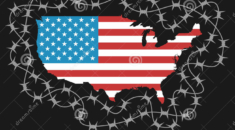 usa-closed-borders-territory-as-protected-area-barbed-wire-american-policy-isolationism-ban-to-enter-protection-86042244